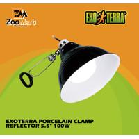 "Exoterra Porcelain Clamp Reflector 5.5"" 100w / Exo terra Glow Light S"