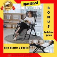Kursi Malas Lipat Santai reclining + Zero Gravity chair + Kursi Lipat