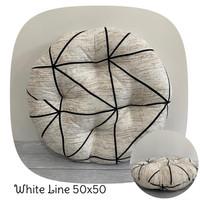 Bantal Duduk Premium, Alas Duduk Lesehan, Motif White Line 50x50cm