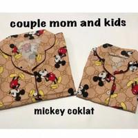 Piyama Couple Mom and kids Mickey Mouse | Baju Tidur Couple 0 - Dewasa