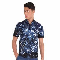 Hem Kemeja Baju Batik Pria Rianty Batik Hem Anzio Navy