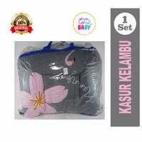 KASUR KELAMBU BAYI SET FLAMINGGO FLOWER #03