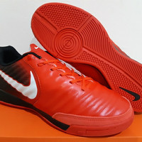 Sepatu Futsal Nike Tiempo X Finalle II Red Black IC