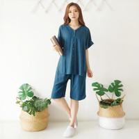 Baju Tidur Wanita Cewek Piyama Pajamas Set Piyama Adem Kancing Vol.6