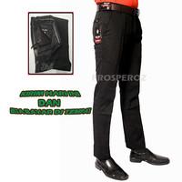 Celana Pria Formal Slimfit Hitam Panjang Bahan Kain Drill Kerja XD1
