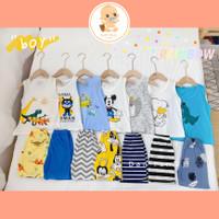 LCH - BOY SERIES Setelan Lengan Buntung / Oblong Baju Tidur Anak Bayi