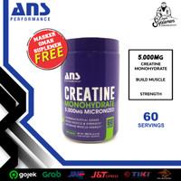 ANS Creatine Monohydrate 5000mg Micronized 300gr creatine ans 300gram