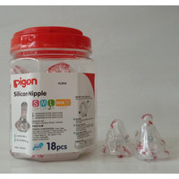 PIGEON SILICONE NIPPLE L 1 TOPLES ISI 18 pcs