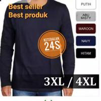 Kaos polos Jumbo Big Size 2xl - 5xl Cotton Combed 24s Premium