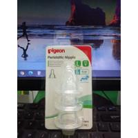 PIGEON PERISTALTIC NIPPLE L SLIM NECK ISI 3 PCS BPA BPS FREE