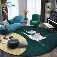 Karpet Beludru Bangau Mewah Emas