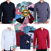 Baju Kemeja Pria Lengan Panjang Premium / Kemeja Pria Panjang Formal - Abu-abu, M