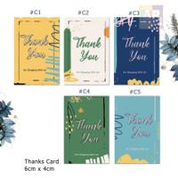 Kartu Ucapan terimakasih, thank you card toko / Online Shop #3