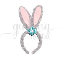 Bando Telinga Kelinci Abu Bando Rabbit Ears Bandana Gemez GH 201973