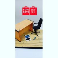 Aksesori Miniatur 1:12 Set Meja kantor