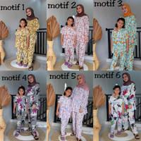 Pajamas Piyama couple Baju Tidur Ibu dan anak Perempuan