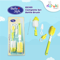 Baby Safe Complete Set Bottle Brush Sikat Cuci Botol Baby Safe BS369