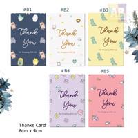 Kartu Ucapan terimakasih, thank you card toko / Online Shop #2