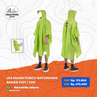 JAS HUJAN PONCO BAHAN 210T / 20D NATUREHIKE NH17D002-M / NH17D003-M