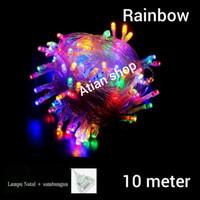 lampu Natal hias rainbow warna warni