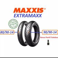 paket ban tubeless 80/90-14 90/90_14 extramaxx maxxis