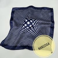 sapu tangan jas navy pria pocket square motif hanky import berkualitas