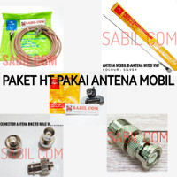 PAKET ANTENA RADIO RIG DAN HT VHF PAKAI ANTENA MOBIL M150 GS COMPLETE