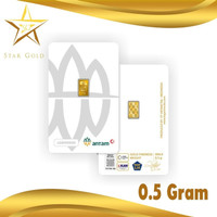 LOGAM MULIA EMAS ANTAM (LM) 0.5GR 0.5 GRAM VAC PREES CERTIEYE TERBARU
