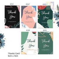 Kartu Ucapan terimakasih, thank you card toko / Online Shop #1