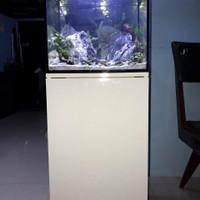 aquarium aquascape full set + cabinet
