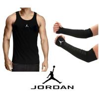 2+ SINGLET AIR JORDAN + ARMSLEEVE arm sleeve BASKET kaos running nike