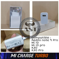 Batok CHARGER XIAOMI Redmi Note 9 Pro Mi10 Mi10 Pro K30 K30 Pro 30Watt