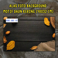 Murah Cantik Background Alas Foto Produk Lipat Uk A3+ Tema Daun-ADK 2