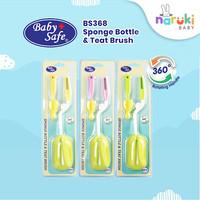 Baby Safe Sikat Sponge Brush 360 Sponge Bottle and Teat Brush BS368