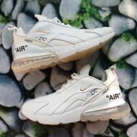 Sepatu Nike Air Max 270 Off White Leather Putih Polos