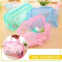 D43 Dompet Tas kosmetik Anti Air Bahan PVC Cosmetic Travel Bag