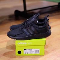 Sepatu Running Pria Adidas Cloudfoam Lite Racer Full Black ORIGINAL