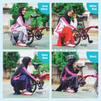 Baju Olahraga Muslimah Setelan Rok Celana Rocella Training Senam Katun