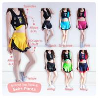 Scarlet Tank + Skirt Setelan Baju Rok Olahraga Wanita Senam Zumba