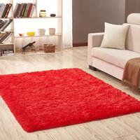Karpet Lantai bulu lembut 150*100 T 4.5cm - Merah