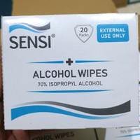 SENSI ALCOHOL WIPES 70% ISOPROPYL ALCOHOL / TISU ALCOHOL ISI 20 PACKS