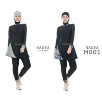 Edora Sportswear Nadea Baju Renang Wanita - Baju Renang Muslimah Edora - Black M001, M
