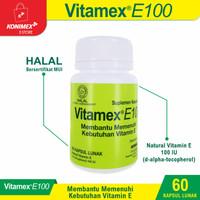 VITAMEX E100 Membantu Memenuhi Kebutuhan Vitamin E @60 kapsul lunak