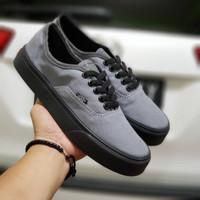 Sepatu Sneakers Vans Authentic Grey Black
