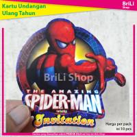 Kartu Undangan Ulang Tahun Anak Karakter Spiderman Ultah Spider Man