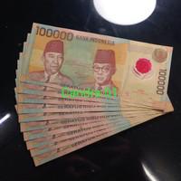 TP 01 : Uang Polymer Indonesa Soekarno Hatta Tahun 1999 Original Asli