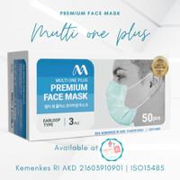 Masker Medis Earloop Multi One Plus 3 ply ( 50 pcs )