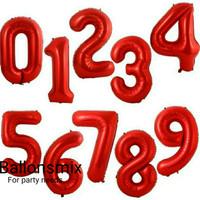 Balon Foil Huruf & Angka warna merah 40cm