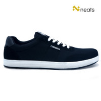 Neats Sepatu Sneakers Pria School / Casual N-016 Mesh Black White - 39