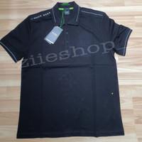 T-shirt polo Hugo Boss original- Hugo Boss hitam